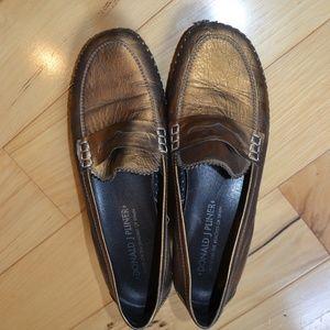 Donald J Pliner penny loafer  Petra bronze 8